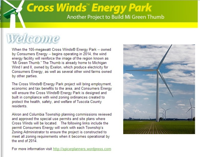 Construction Resumes At Consumers Energy Cross Winds