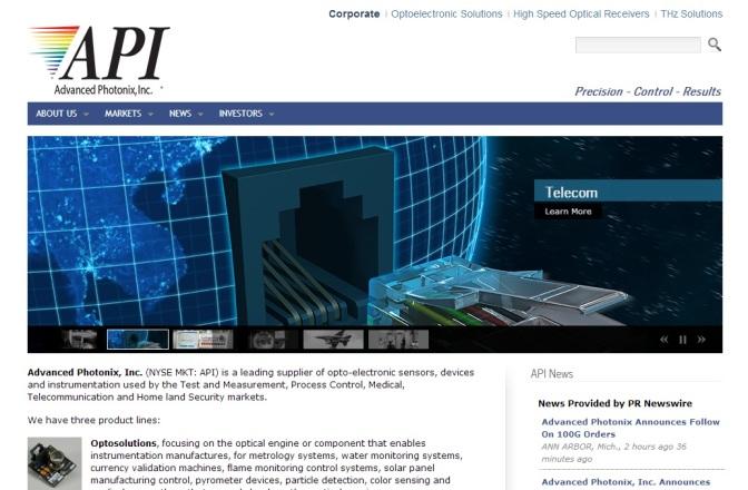 Advanced Photonix Revenue Up 16%