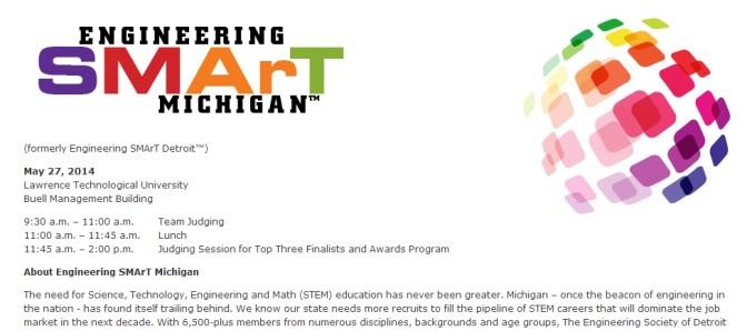 ESD Seeks Judges For Engineering SMArT Michigan Event