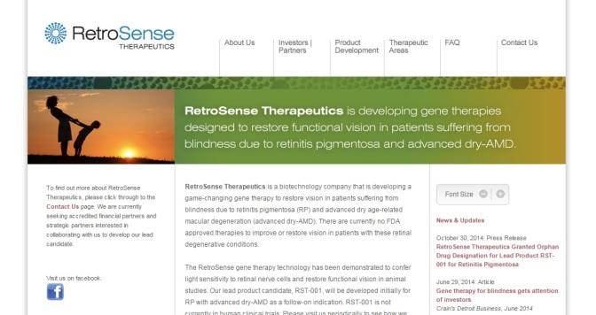 RetroSense Gets Patent On Method for Restoring Vision
