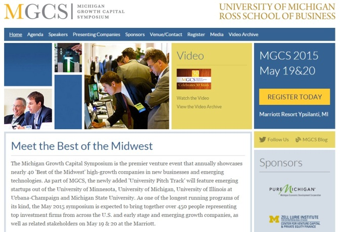 Michigan VC Symposium Issues Call For Presenting Companies