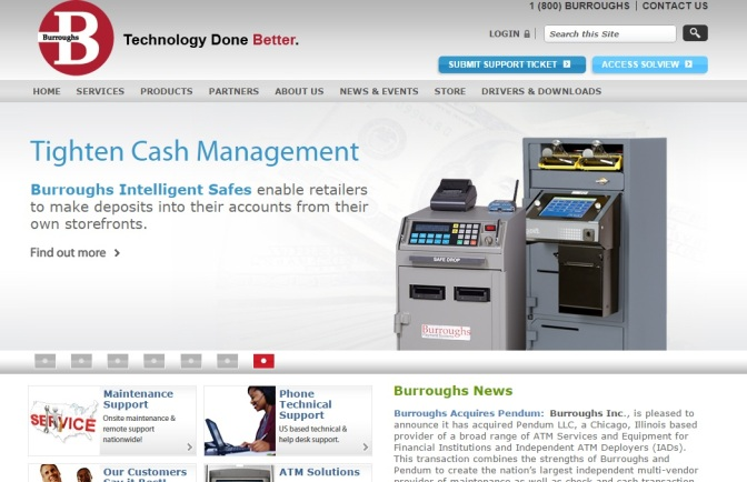 Burroughs Buys Chicago ATM Service Firm