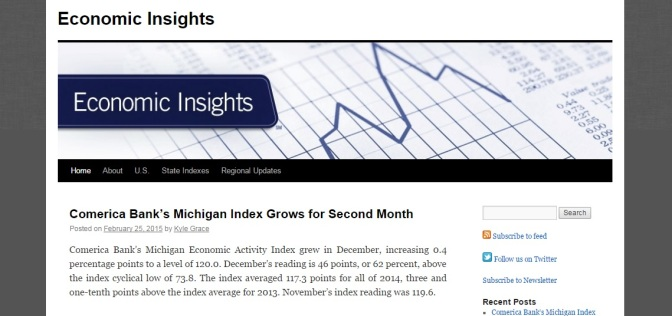 Comerica Bank's Michigan Index Sees Biggest Boost in Four Months