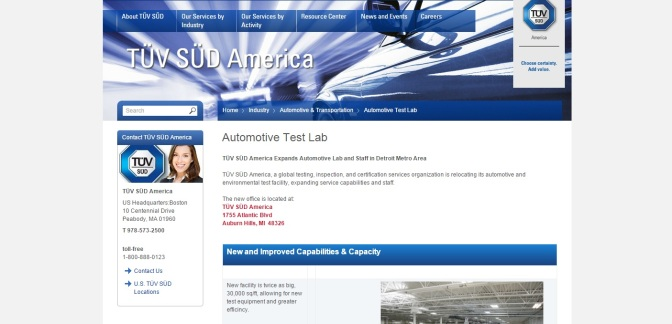 TÜV SÜD America Expands Automotive Lab, Adds Staff In Michigan