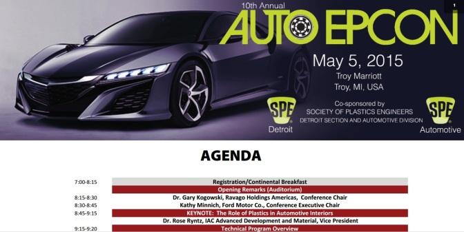 SPE Hosting Auto Plastics Conference