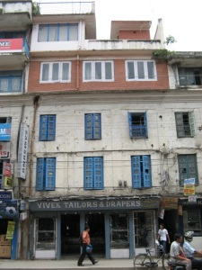The upper additions to buildings like these in Katmandu, Nepal probably didn't fare well in Saturday's magnitude 7.8 earthquake. (Wayne Pennington photo.)