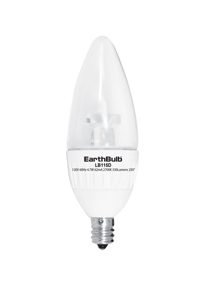 EarthTronics Adds Candle, Bulb LED Lighting