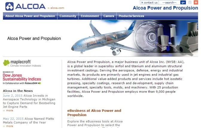 Alcoa Investing $22M At Jet Parts Plant Near Muskegon