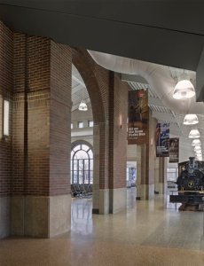The interior of the Dingell Transit Center in Dearborn.