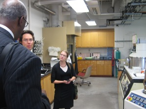 The ESD group also met with Michigan Tech's Chito Kendrick in the university's electronics microfabrication plant.