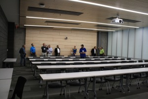 A typical classroom in the Oakland University Engineering Center.