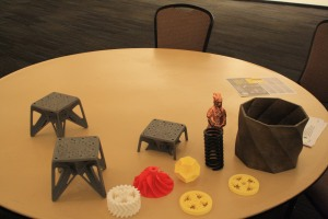 Some of the objects made by the Gigabot.