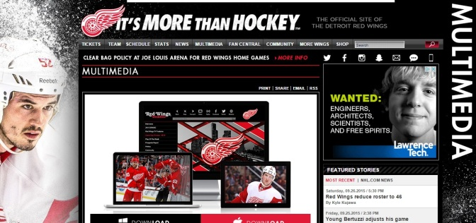 Red Wings Launch New Video Website, App