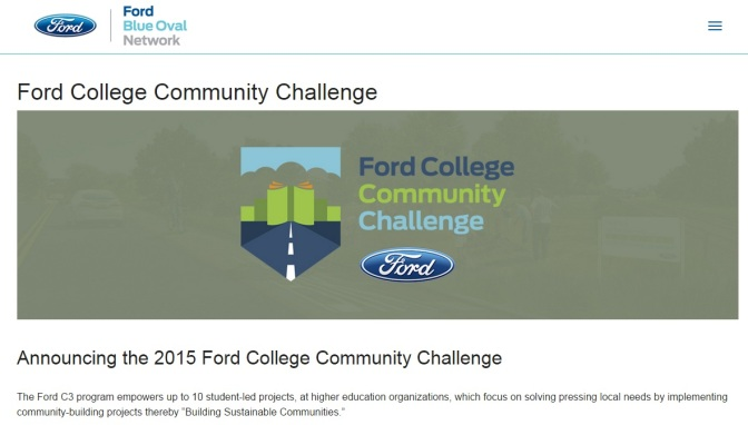 Five Michigan Projects Among Ford College Community Challenge Winners