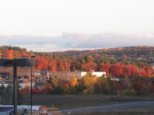 Now this is more like it! Beautiful sunshine and even more beautiful fall color greets us on Wednesday for the big ESD Tech Tour visit to Michigan Technological University in Houghton, and the launch of the MTU ESD Student Chapter.