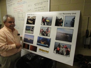 Dr. Guy Meadows shows how GLRC technology is used to help police in underwater searches.