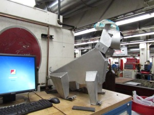 This Ferris bulldog guards the welding lab.
