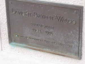 The ashes of WMU's first president are interred at Heritage Hall. This part of the building was not disturbed during the renovation.