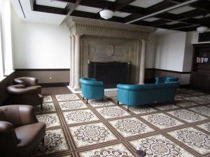 Heritage Hall's 1903 Room features a restored seven-ton fireplace from nearby North Hall.