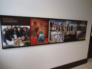 This display depicts international students at WMU.
