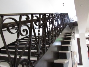 East Hall's original stairway was reused in the renovation -- although it was raised a foot or so to meet modern building safety codes.