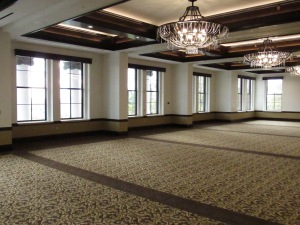 Heritage Hall's ballroom has a capacity of 180...