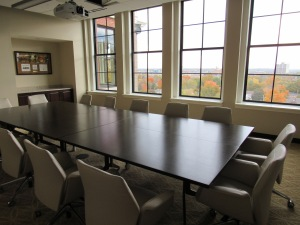 One of several boardroom spaces in Heritage Hall.