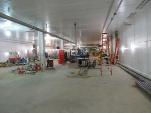 The main stretch of the particle accelerator is about 600 feet long -- four stories underground.