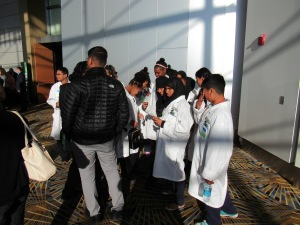 Student groups, like these Cyber Dragons, were also a part of the Cyber Summit.
