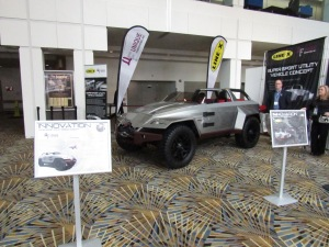 An interesting SUV concept from a custom car builder out in the Cobo hallway.