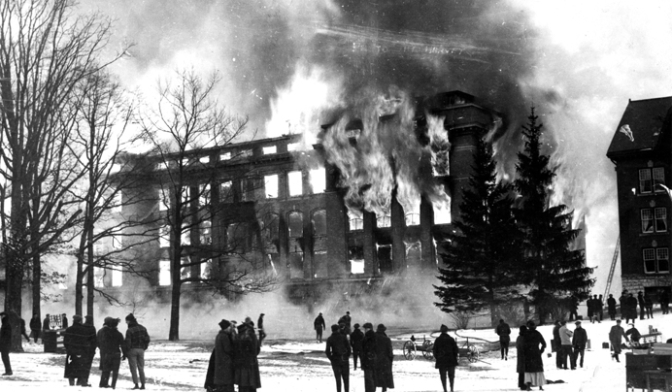 MSU Marks 100th Anniversary Of Engineering Fire — And Its Fire Safety Research