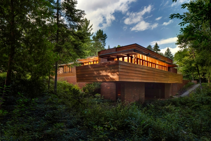 Tour three of Frank Lloyd Wright's Usonian houses June 4