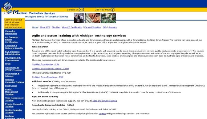 Scrum Master Training Coming To Farmington Hills