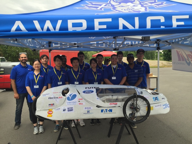 Lawrence Tech hits top 10 in SAE Supermileage competition