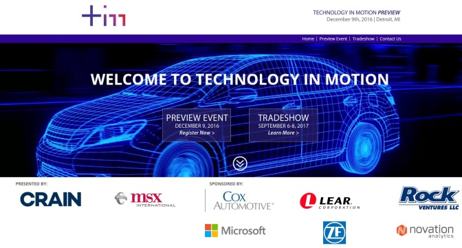 New Auto Tech Conference Coming In 2017; Preview Dec. 9
