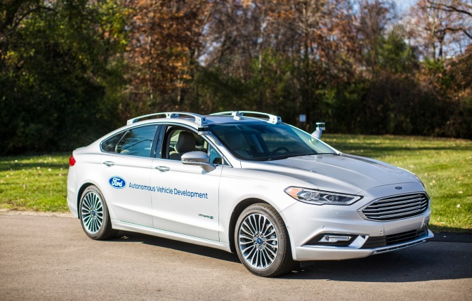 Ford Debuts Fusion Hybrid Autonomous Development Vehicle