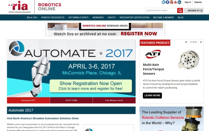 First Ever US-China Robotics Forum Set For Automate 2017