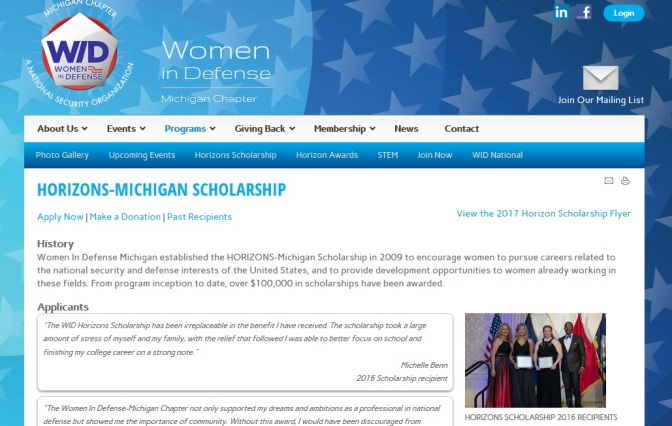 Women In Defense Offers Scholarships