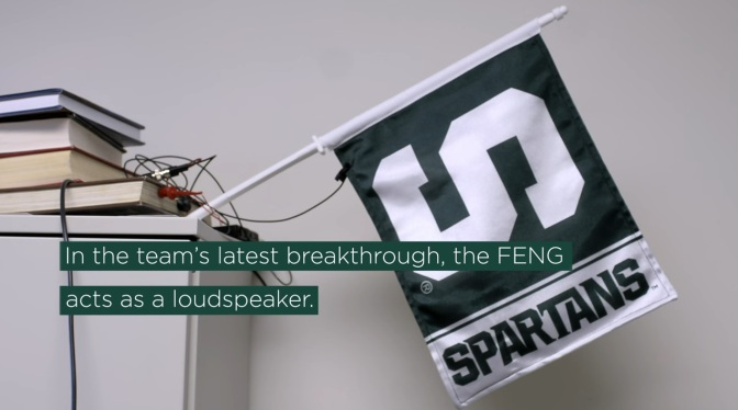 MSU Engineering researchers turn a flag into a loudspeaker