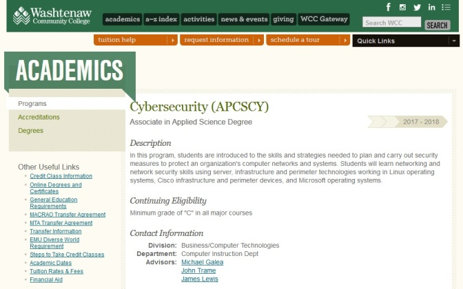 Washtenaw Community College Adds Degree In Cybersecurity